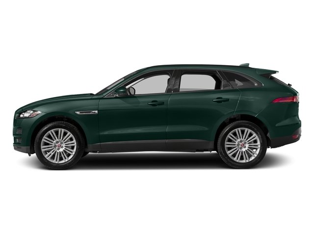British Racing Green Metallic 2017 Jaguar F-PACE Pictures F-PACE 20d Prestige AWD photos side view