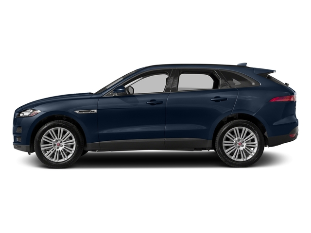 Dark Sapphire Metallic 2017 Jaguar F-PACE Pictures F-PACE 20d AWD photos side view