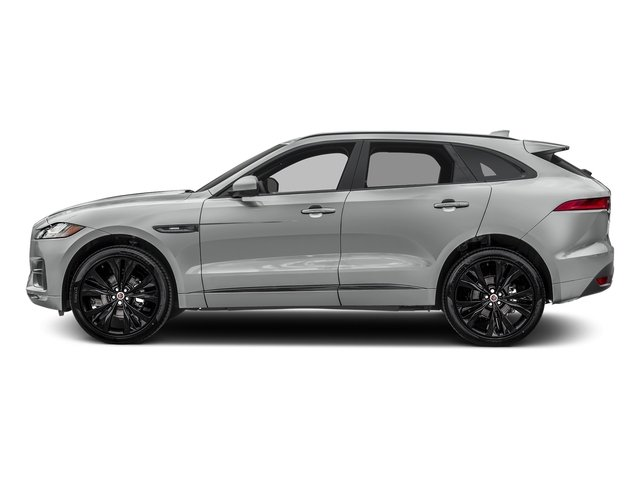 Rhodium Silver Metallic 2017 Jaguar F-PACE Pictures F-PACE 20d R-Sport AWD photos side view