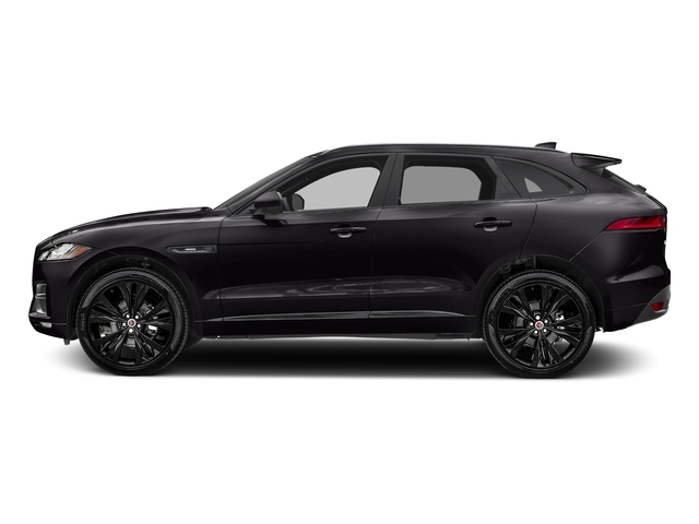Ultimate Black Metallic 2017 Jaguar F-PACE Pictures F-PACE 20d R-Sport AWD photos side view