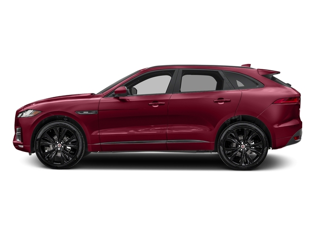 Odyssey Red Metallic 2017 Jaguar F-PACE Pictures F-PACE Utility 4D 20d R-Sport AWD I4 T-Dsl photos side view