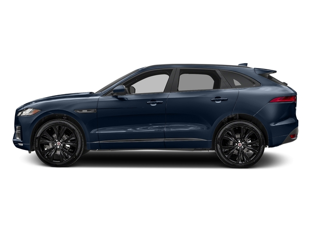 Dark Sapphire Metallic 2017 Jaguar F-PACE Pictures F-PACE 20d R-Sport AWD photos side view
