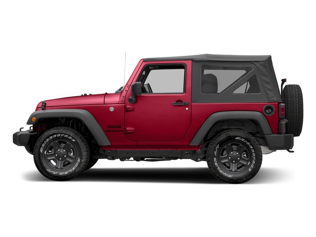 Firecracker Red Clearcoat 2017 Jeep Wrangler Pictures Wrangler Sport 4x4 photos side view