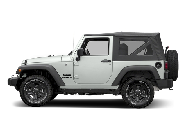 Bright White Clearcoat 2017 Jeep Wrangler Pictures Wrangler Sport 4x4 photos side view