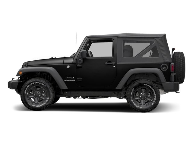 Black Clearcoat 2017 Jeep Wrangler Pictures Wrangler Freedom 4x4 *Ltd Avail* photos side view