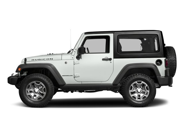 Bright White Clearcoat 2017 Jeep Wrangler Pictures Wrangler Rubicon 4x4 photos side view
