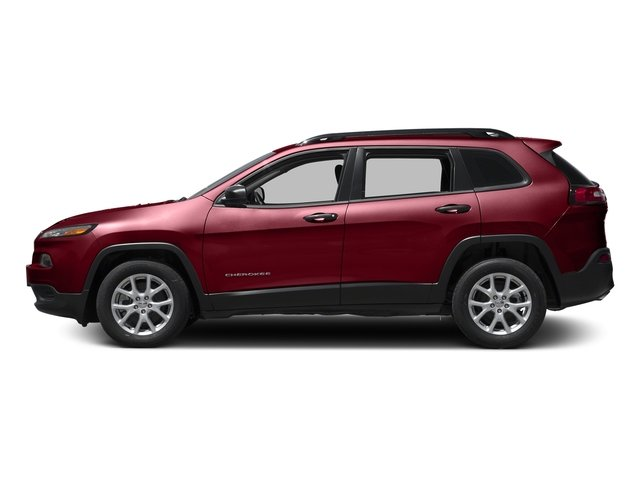 Deep Cherry Red Crystal Pearlcoat 2017 Jeep Cherokee Pictures Cherokee Sport 4x4 photos side view