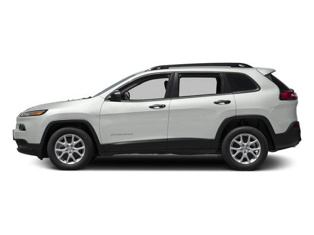 Bright White Clearcoat 2017 Jeep Cherokee Pictures Cherokee Utility 4D Sport 2WD photos side view