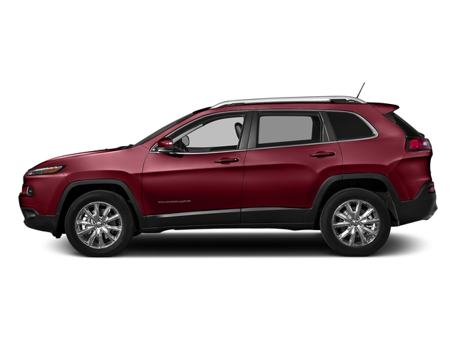 Deep Cherry Red Crystal Pearlcoat 2017 Jeep Cherokee Pictures Cherokee Altitude 4x4 *Ltd Avail* photos side view