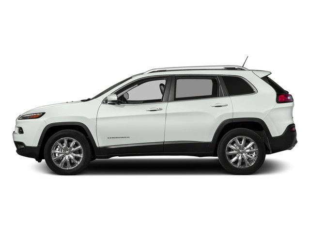 Bright White Clearcoat 2017 Jeep Cherokee Pictures Cherokee Utility 4D Altitude 2WD photos side view