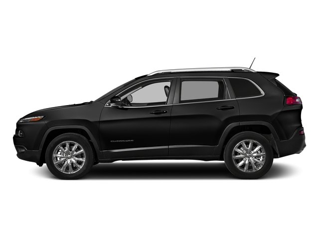 Diamond Black Crystal Pearlcoat 2017 Jeep Cherokee Pictures Cherokee Altitude 4x4 *Ltd Avail* photos side view