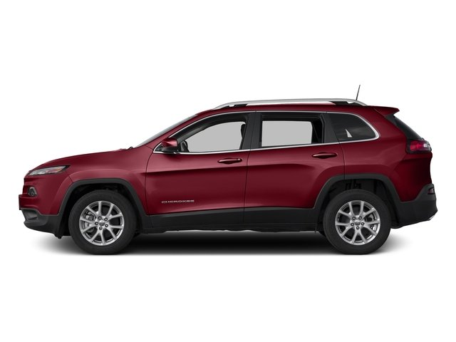 Deep Cherry Red Crystal Pearlcoat 2017 Jeep Cherokee Pictures Cherokee Utility 4D Latitude 4WD photos side view