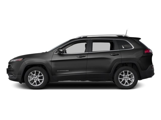 Diamond Black Crystal Pearlcoat 2017 Jeep Cherokee Pictures Cherokee Utility 4D Latitude 4WD photos side view