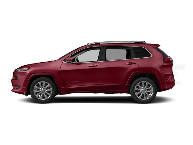 Deep Cherry Red Crystal Pearlcoat 2017 Jeep Cherokee Pictures Cherokee Utility 4D Overland 4WD photos side view