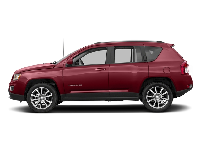 Deep Cherry Red Crystal Pearlcoat 2017 Jeep Compass Pictures Compass Latitude 4x4 *Ltd Avail* photos side view