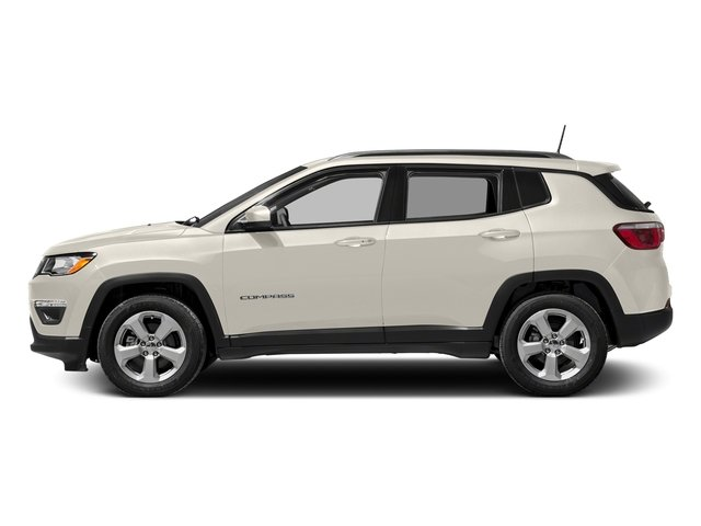 White Clearcoat 2017 Jeep Compass Pictures Compass Sport 4x4 photos side view