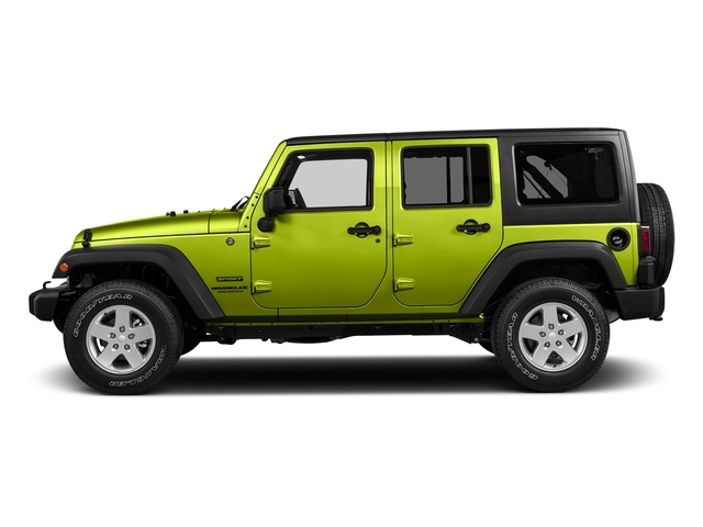 Hypergreen Clearcoat 2017 Jeep Wrangler Unlimited Pictures Wrangler Unlimited Utility 4D Unlimited Sport 4WD V6 photos side view