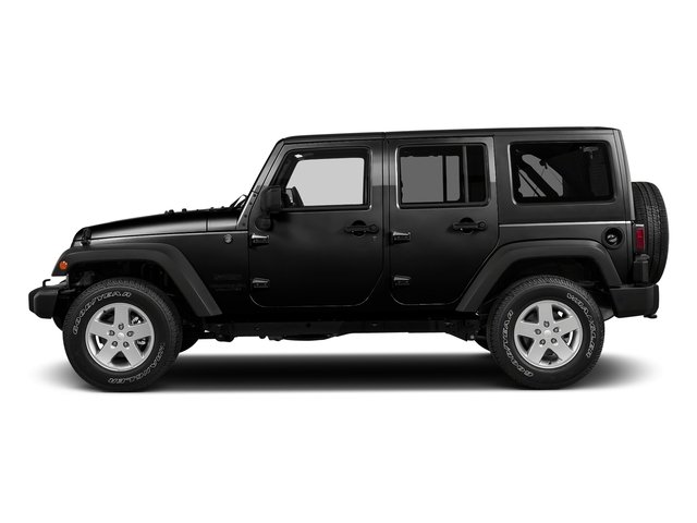 Black Clearcoat 2017 Jeep Wrangler Unlimited Pictures Wrangler Unlimited Utility 4D Unlimited Sport 4WD V6 photos side view