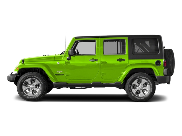 Hypergreen Clearcoat 2017 Jeep Wrangler Unlimited Pictures Wrangler Unlimited Sahara 4x4 photos side view