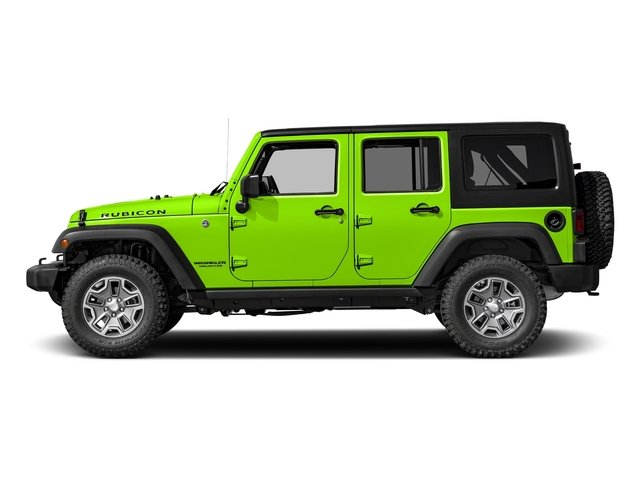 Hypergreen Clearcoat 2017 Jeep Wrangler Unlimited Pictures Wrangler Unlimited Utility 4D Unlimited Rubicon 4WD V6 photos side view