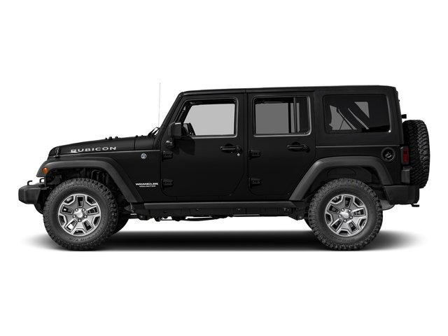 Black Clearcoat 2017 Jeep Wrangler Unlimited Pictures Wrangler Unlimited Rubicon Recon 4x4 photos side view