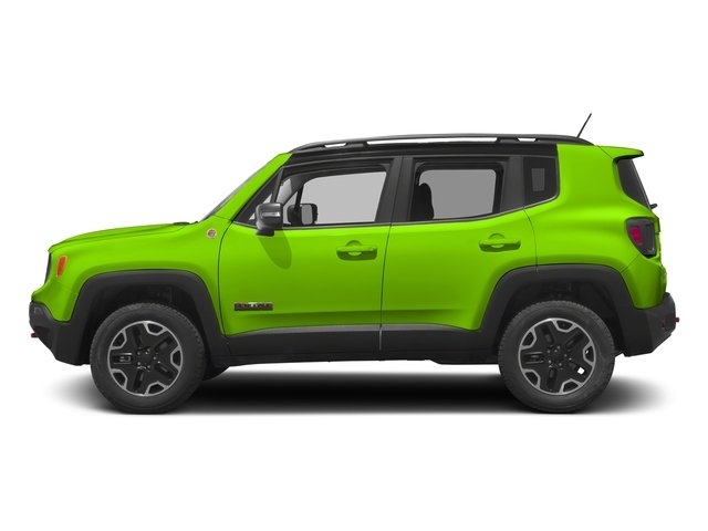 Hypergreen Clearcoat 2017 Jeep Renegade Pictures Renegade Utility 4D Trailhawk AWD photos side view