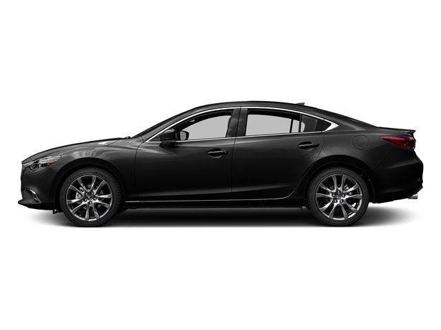 Jet Black Mica 2017 Mazda Mazda6 Pictures Mazda6 Sedan 4D GT Premium I4 photos side view