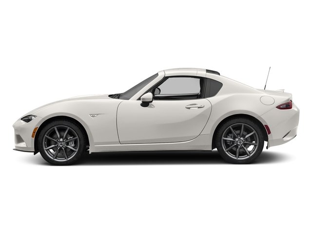 Crystal White Pearl 2017 Mazda MX-5 Miata RF Pictures MX-5 Miata RF Grand Touring Manual photos side view