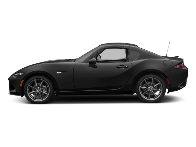 Jet Black Mica 2017 Mazda MX-5 Miata RF Pictures MX-5 Miata RF Grand Touring Manual photos side view