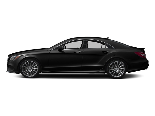 Obsidian Black Metallic 2017 Mercedes-Benz CLS Pictures CLS CLS 550 4MATIC Coupe photos side view