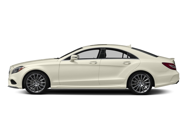 designo Diamond White Metallic 2017 Mercedes-Benz CLS Pictures CLS CLS 550 4MATIC Coupe photos side view