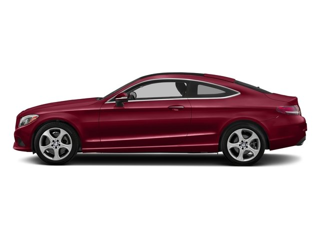 designo Cardinal Red Metallic 2017 Mercedes-Benz C-Class Pictures C-Class Coupe 2D C300 AWD photos side view