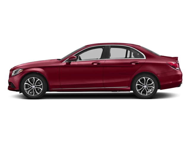 designo Cardinal Red Metallic 2017 Mercedes-Benz C-Class Pictures C-Class Sedan 4D C300 I4 Turbo photos side view