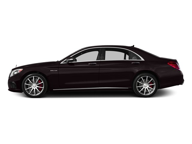 Ruby Black Metallic 2017 Mercedes-Benz S-Class Pictures S-Class AMG S 63 4MATIC Sedan photos side view