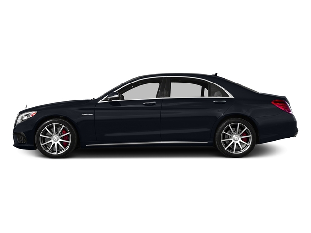Anthracite Blue Metallic 2017 Mercedes-Benz S-Class Pictures S-Class AMG S 63 4MATIC Sedan photos side view