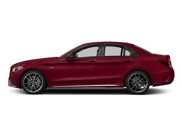 designo Cardinal Red Metallic 2017 Mercedes-Benz C-Class Pictures C-Class Sedan 4D C43 AMG AWD V6 Turbo photos side view