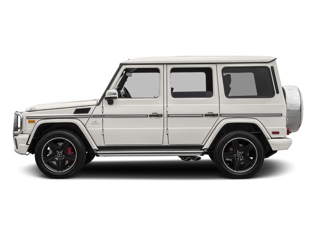 designo Mystic White Metallic 2017 Mercedes-Benz G-Class Pictures G-Class AMG G 63 4MATIC SUV photos side view