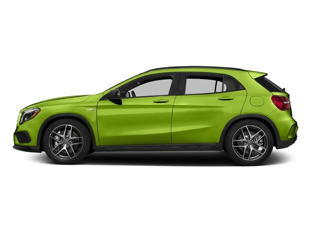Kryptonite Green Metallic 2017 Mercedes-Benz GLA Pictures GLA Utility 4D GLA45 AMG AWD I4 Turbo photos side view