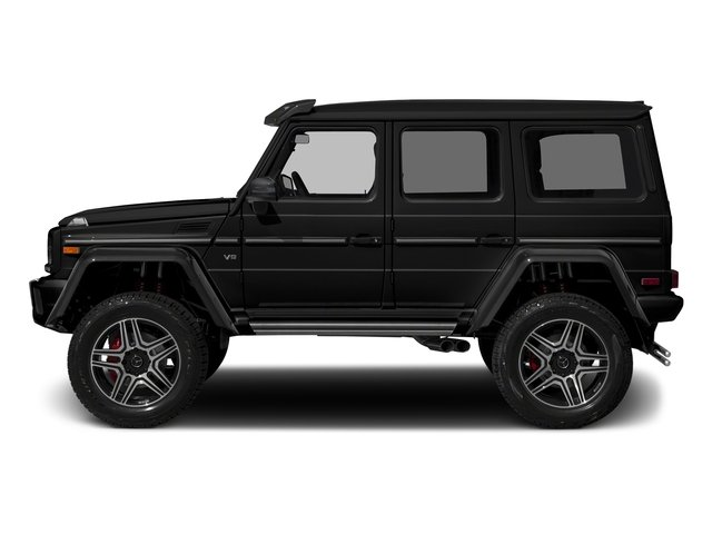 Obsidian Black Metallic 2017 Mercedes-Benz G-Class Pictures G-Class G 550 4x4 Squared SUV photos side view