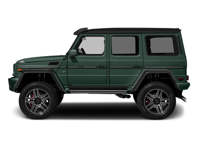 Jade Green Metallic 2017 Mercedes-Benz G-Class Pictures G-Class G 550 4x4 Squared SUV photos side view