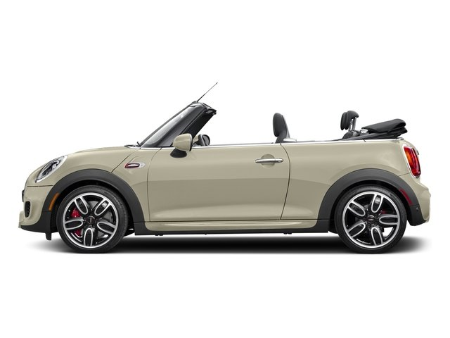 Pepper White 2017 MINI Convertible Pictures Convertible Convertible 2D JCW I4 Turbo photos side view