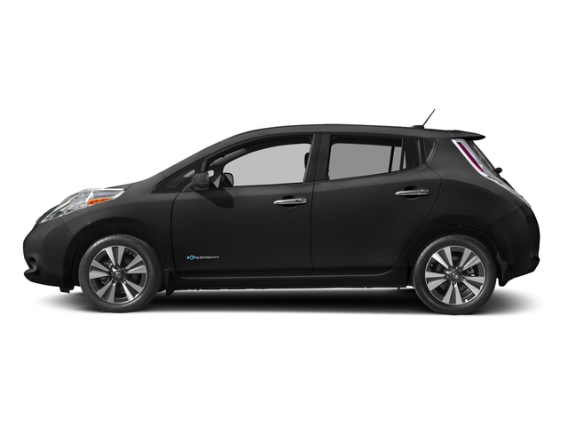 Super Black 2017 Nissan LEAF Pictures LEAF SV Hatchback photos side view