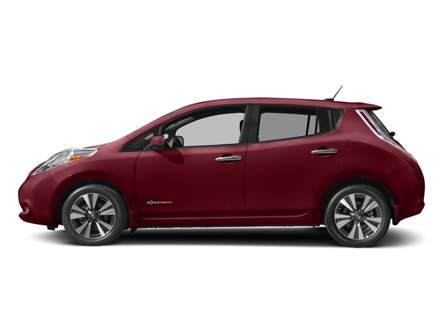 Coulis Red 2017 Nissan LEAF Pictures LEAF SV Hatchback photos side view