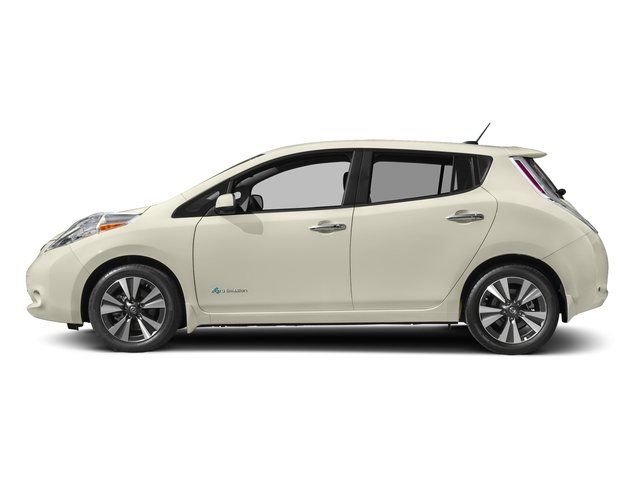 Pearl White 2017 Nissan LEAF Pictures LEAF SV Hatchback photos side view