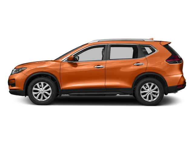 Monarch Orange 2017 Nissan Rogue Pictures Rogue Utility 4D S 2WD I4 photos side view