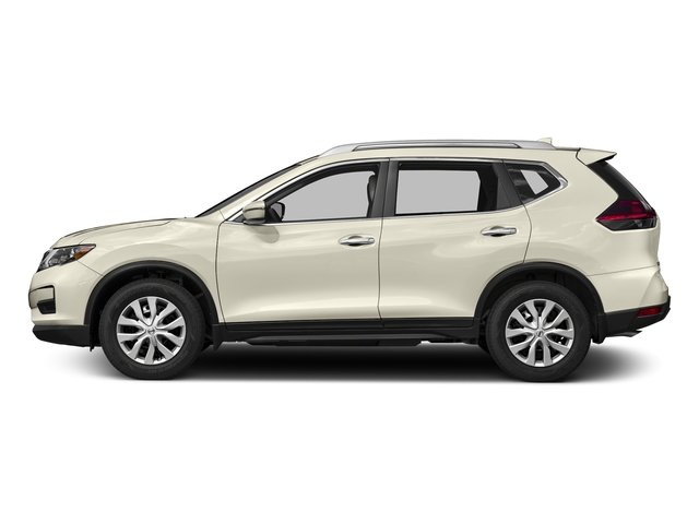 Pearl White 2017 Nissan Rogue Pictures Rogue Utility 4D SV 2WD I4 photos side view