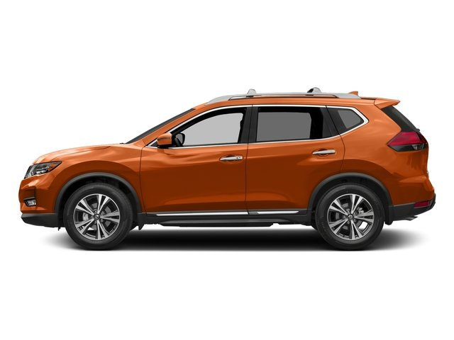 Monarch Orange 2017 Nissan Rogue Pictures Rogue Utility 4D SL AWD I4 photos side view