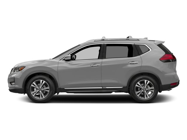 Brilliant Silver 2017 Nissan Rogue Pictures Rogue Utility 4D SL AWD I4 photos side view