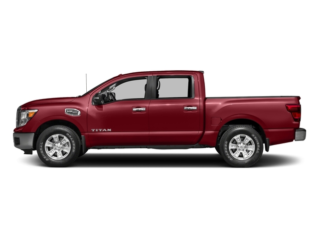 Cayenne Red 2017 Nissan Titan Pictures Titan Crew Cab SV 2WD photos side view