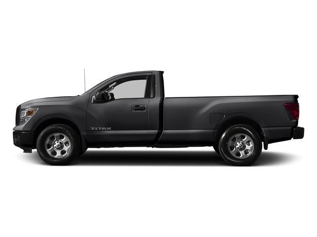 Magnetic Black 2017 Nissan Titan Pictures Titan Regular Cab S 2WD photos side view
